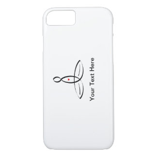 Stylized meditator with customizable text iPhone 8/7 case