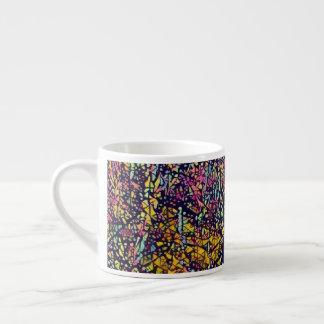 Stylized Mosaic Blossoming Tree Espresso Mug