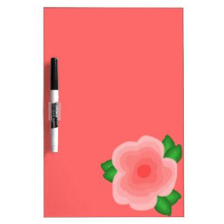 Stylized Peach Flower Dry Erase Board