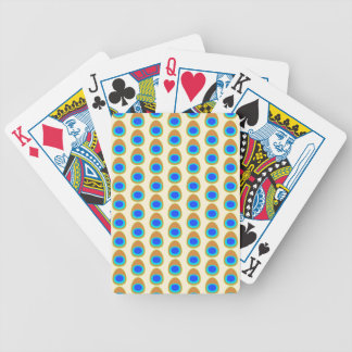 Stylized Peacock Feather Pattern. Bicycle Playing Cards