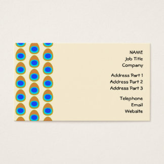 Stylized Peacock Feather Pattern. Business Card