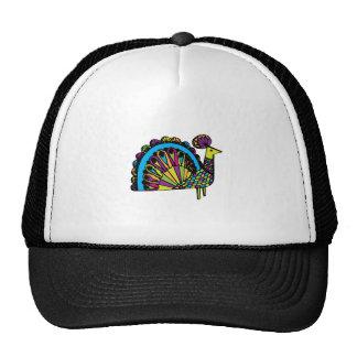 Stylized Peacock Mesh Hat