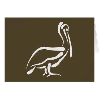 Stylized Pelican Card