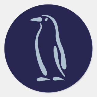 Stylized Penguin Round Sticker