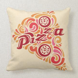 Stylized Pizza throw pillows