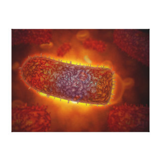 Stylized Rabies Virus Particles 2 Canvas Print