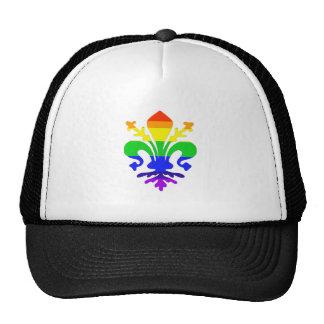 Stylized Rainbow Fleur de Lis Cap
