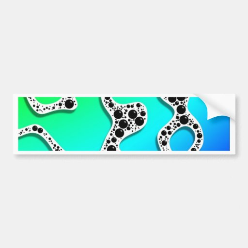 Stylized Seafoam Blue and Green by Frank Hawkins Bumper Stickers