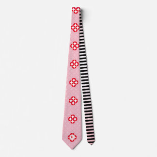 Stylized Shamrock Network Print Tie