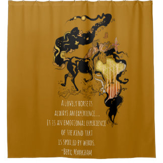 Stylized Silhouette Horse Shower Curtain