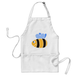 Stylized Smiling Cartoon Bumble Bee/Bumblebee Apron