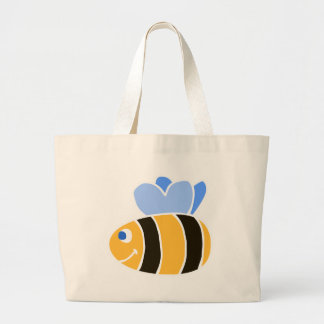 Stylized Smiling Cartoon Bumble Bee/Bumblebee Canvas Bag