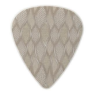 Stylized snake skin acetal guitar pick