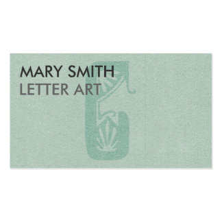 """Stylized Soft Green Letter """"C"""" Business Card"""