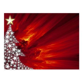Stylized Star Christmas Tree Postcards