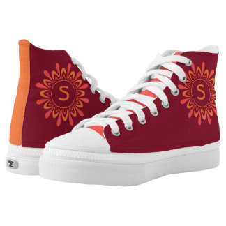 Stylized Sun custom monogram shoes