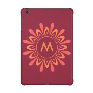 Stylized Sun Pattern custom monogram cases