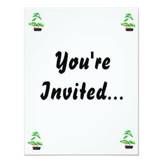Stylized Upright Bonsai 2 11 Cm X 14 Cm Invitation Card