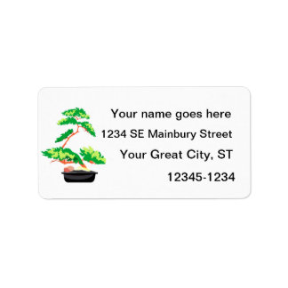 Stylized Upright Bonsai 2 Address Label