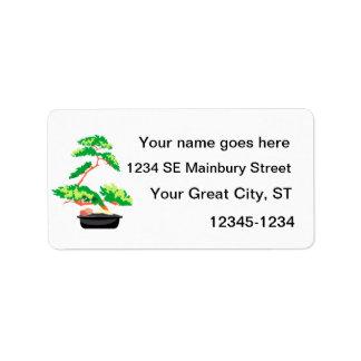 Stylized Upright Bonsai 2 Address Label