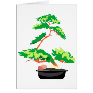 Stylized Upright Bonsai 2 Note Card