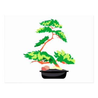 Stylized Upright Bonsai 2 Postcard