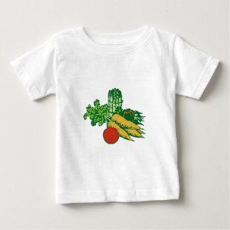 Stylized Vegetable Assortment Baby T-Shirt