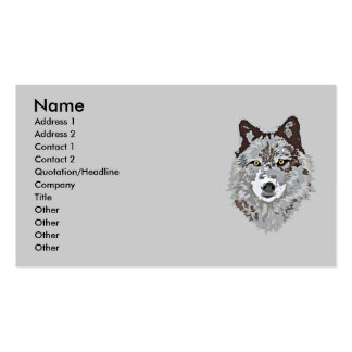 Stylized Wolf Head Business Card