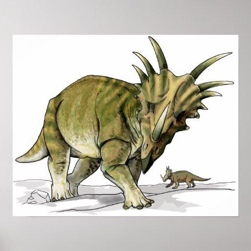Styracosaurus - Cretacous Dinosaur Poster