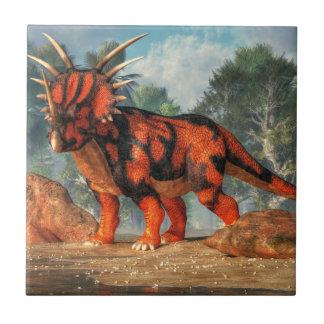 Styracosaurus Small Square Tile