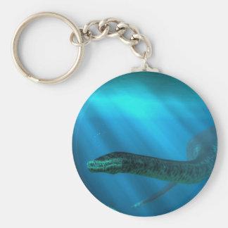 Styxosaurus Basic Round Button Key Ring