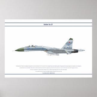 Su-27 Russia 1 Poster