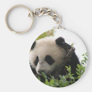 Su Lin giant panda bear cub at the San Diego Zoo Keychain