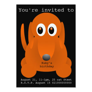 Suasage dog party invitation