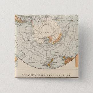Sub Polar region and Polynesia 15 Cm Square Badge