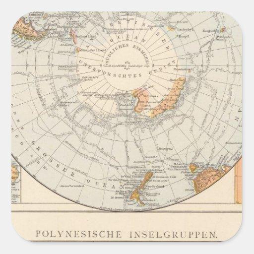 Sub Polar region and Polynesia Square Stickers