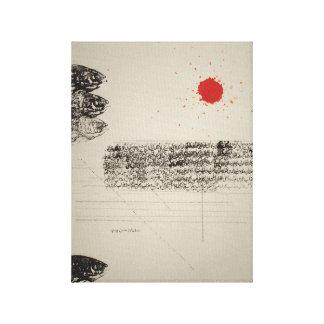 Subah-e-Azadi (The Dawn of Freedom ) - Rising Fish Canvas Print