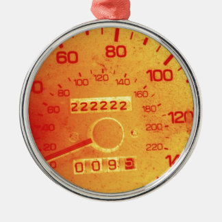 Subaru 222,222 Mile Odometer Silver-Colored Round Decoration