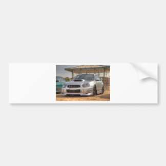 Subaru Impreza STi - Body Kit (Silver) Bumper Sticker