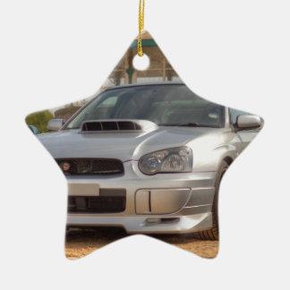 Subaru Impreza STi - Body Kit (Silver) Christmas Ornament