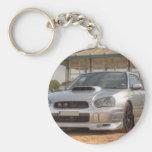 Subaru Impreza STi - Body Kit (Silver) Basic Round Button Key Ring