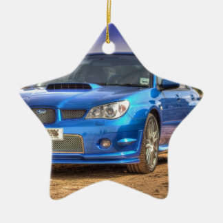 "Subaru Impreza STi ""Hawkeye"" in Blue Christmas Ornament"