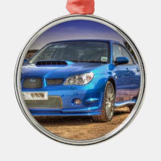 "Subaru Impreza STi ""Hawkeye"" in Blue Christmas Ornament"