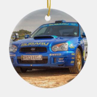 Subaru Impreza STi SWRT Stickers Round Ceramic Decoration