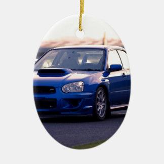 Subaru Impreza WRX STi Christmas Ornament