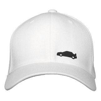 Subaru Wrx car silhouette white hat black logo