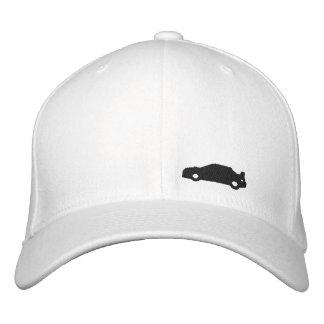 Subaru Wrx car silhouette white hat black logo Embroidered Hats