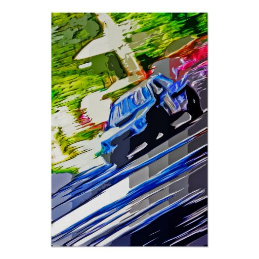 Subaru WRX paint Poster