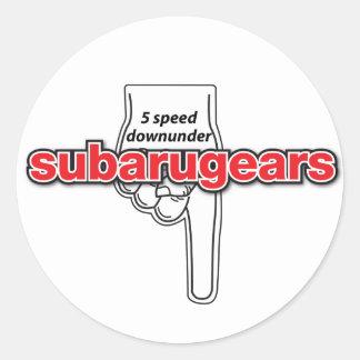 Subarugears 5 speed downunder stickers