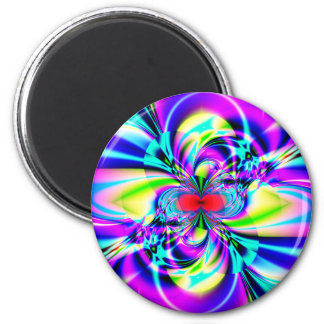 Subatomic Fractal Art Refrigerator Magnet